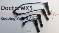 8mm HT Lead Set Mazda MX5 MK2, BLACK Ignition / Spark Plug Lead Set 1.6 Eunos